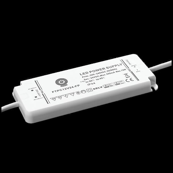 24V, 12W, IP44 Strømforsyning