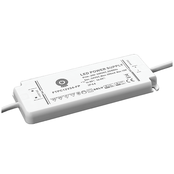 12V, 12W, IP44 Strømforsyning