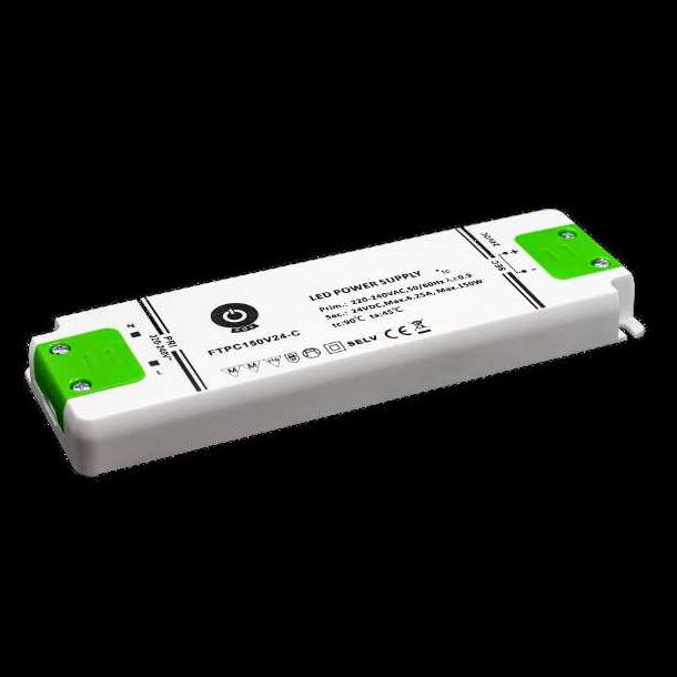 24 VDC Strømforsyning 150W, 6,25 A.
