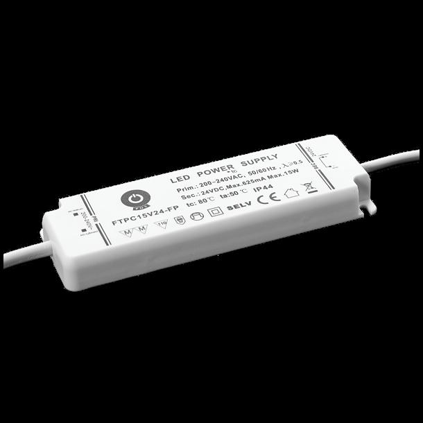 12V, 15W, IP44 Strømforsyning