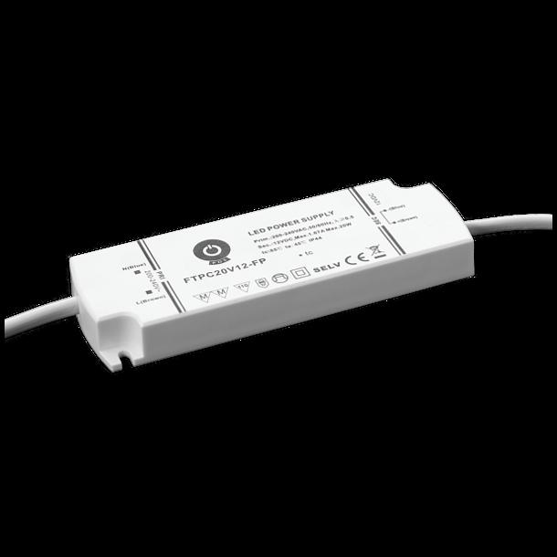 24V, 20W, IP44 Strømforsyning
