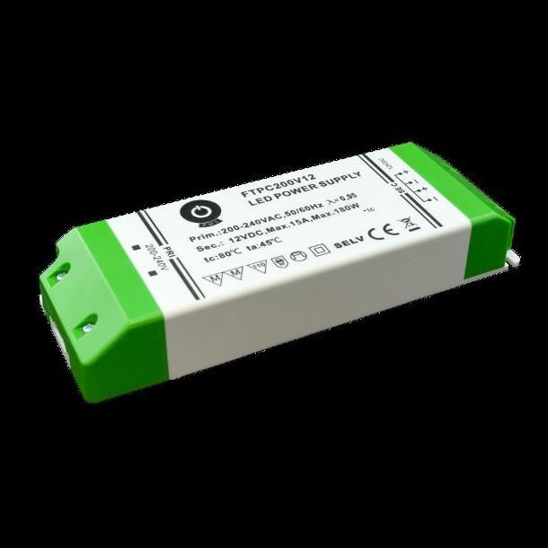 24 VDC Strømforsyning 200W, 8,33 A.