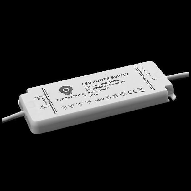 12V, 6W, IP44 Strømforsyning